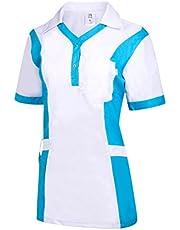 Clinotest Damestas Julia, gezondheidszorg, voor de verzorging, werkkleding, in trendy kleuren.