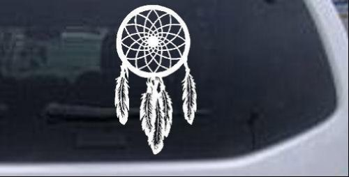Dreamcatcher Western Car or Truck Window or Laptop Decal Sticker White 6in X 3.3in Rad Dezigns