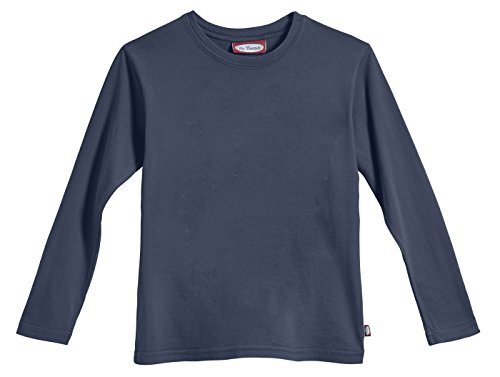 City Threads Little Boys' Cotton Long Sleeve Tee Base Layer For Fall Winter School or Play - Sensitive Skins or SPD Sensory Friendly Kids Clothing , Midnight, 5