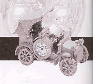 Collectible Silver Classic Car