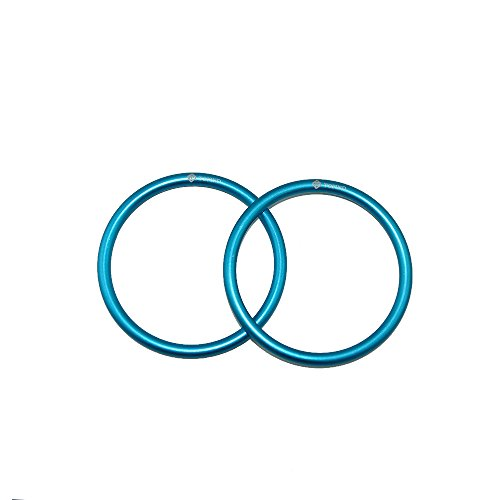 Topind 3'' Large Size Aluminium Baby Sling Rings for Baby Carriers & Slings of 2 pcs (Aqua) by Topind