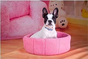 Amazon.com : Pet Ultra-soft Plush Pet Bed Small Round Dog