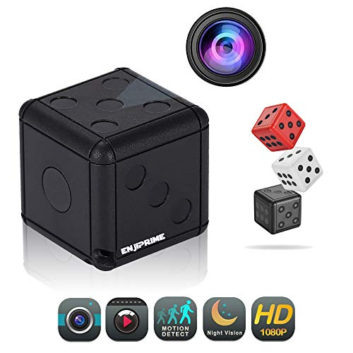 Mini Wireless Action Dice Camera – Full HD Cameras with Motion Detection Night Vision, Monitoring and Cam Recorder for Home Office, Nanny Cam, Camaras para Casas