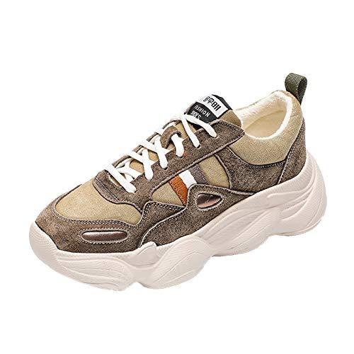 YUNDONGXIENV Leichtathletikschuhe Sportschuhe weiblich 2018 Herbst und Winter alte Schuhe hässliche Schuhe Dicke Boden Wilde Student Schuhe
