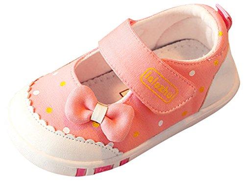 La Vogue Zapatos Bebé Primeros Pasos Antideslizante Primeros Pasos Primavera Rosa