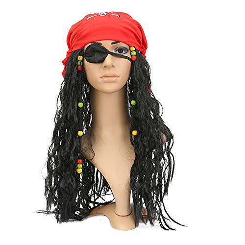 Pirates Caribbean Costume Jack Sparrow Mask Cosplay for sale  Delivered anywhere in USA