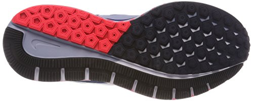 Nike Air Zoom Structure 21, Scarpe Running Uomo Multicolore (Häherblau/Gletscher Blau-obsidian- Solar Rot)
