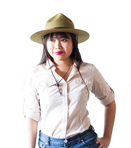 (Green National Park Ranger and Safari Outdoors Costume Hat for Men, Women, Adults. for Your Next Outdoors)