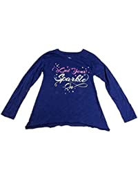 b79e453e7 Big Girls' Get Your Sparkle On Graphic T-Shirt Blue Print Large. Epic  Threads