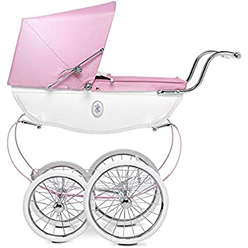 Silver Cross Dolls Pram - Baby Toy Stroller - Handmade in England (Princess Pink)