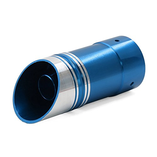 Aluminum Oval Mufflers (uxcell Universal Blue Aluminum Oval Tip Car Exhaust Extension Pipe Muffler)