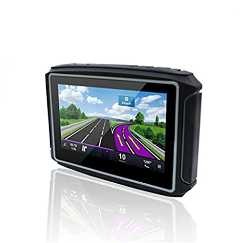 Naladoo 4.3 inch Motorcycle GPS Navigator 8GB Support Multi-Languages riding - City Navigator Dvd