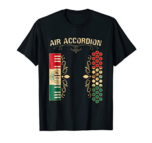 Mexican Flag Vintage Air Accordion Shirt for Latin Community