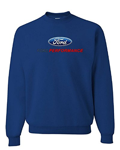 Ford Performance Racing Crew Neck Sweatshirt Mustang GT ST Racing, Blue, L ()