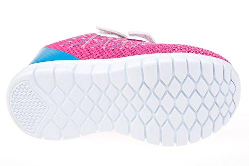 gibra - Zapatillas de sintético/textil para niño rosa/azul