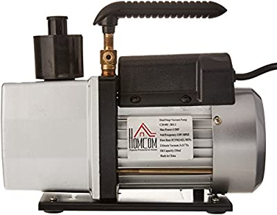 HomCom Single Stage Rotary Vane HVAC Refrigerant Vacuum Pump