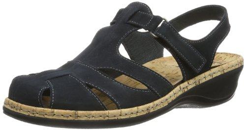 Comfortabel 720086 - Sandalias con correa de tobillo Mujer Azul (Blau (Blau 5))