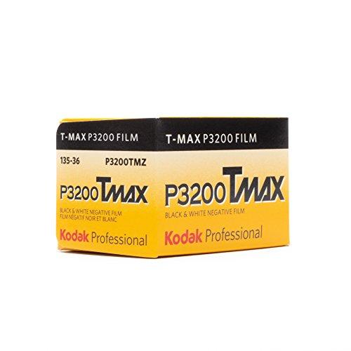 Kodak P3200 TMAX Professional ISO 3200, 35mm, 36 Exposures, Black and White Film by Kodak