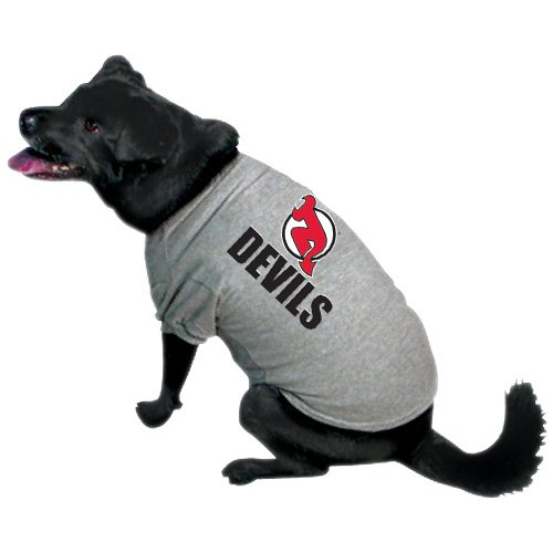 NHL New Jersey Devils Pet T-Shirt, Team Color, Large