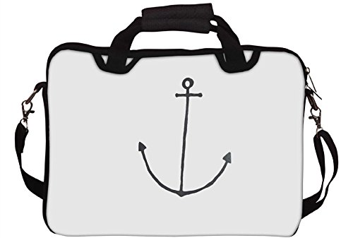 Snoogg Anchor Bedruckt Custom Notebook-Tasche mit Schultergurt 13 bis 13,6 Zoll
