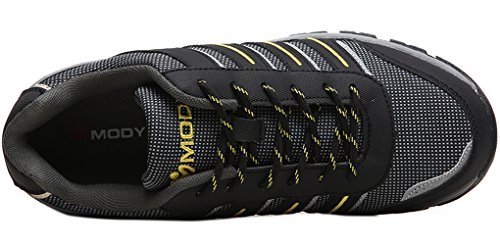 Modyf Mens Steel Toe Work Safety Shoes Reflective Casual Outdoor Footwear Gray LT3YvIiJ6L