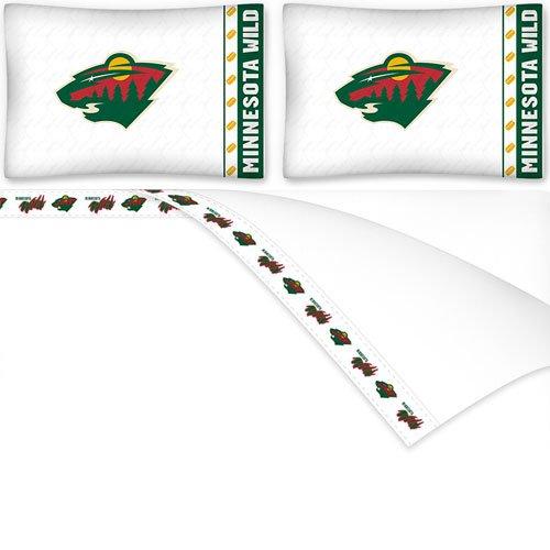 NHL Minnesota Wild Micro Fiber Sheet Set (Queen)
