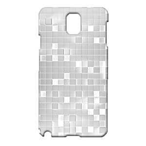Samsung Galaxy Note 3 N9005 Mobile CoverSpecific Character Awesome Protective Phone Case Snap onSamsung Galaxy Note 3 N9005 White Reflective Metal Grid Pattern Cellphone Shell