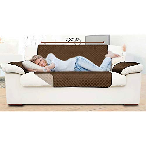 THULOS Funda Protectora de sofá (3 plazas) Reversible 2.80 ...