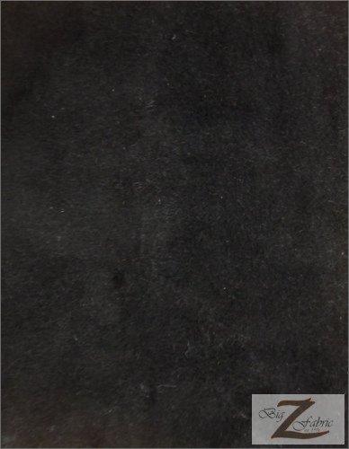 VELBOA FAUX FAKE FUR SOLID SHORT PILE FABRIC - Black - 60