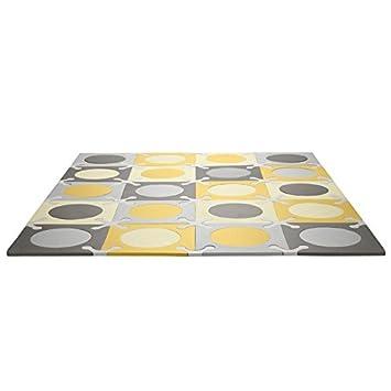 Skip Hop Interlocking Foam Floor Tiles Playspot, Gold Grey