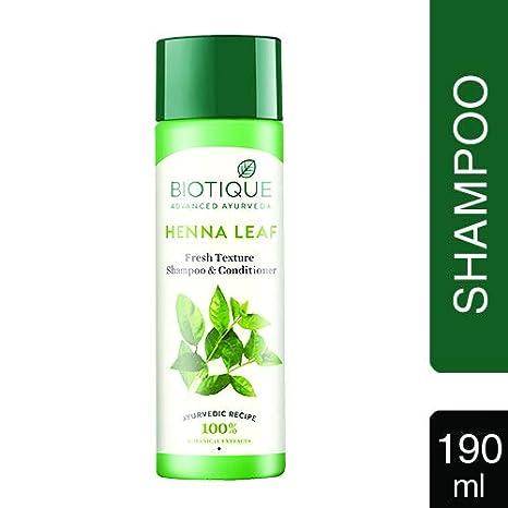 Biotique Bio Heena Leaf Fresh Texture Shampoo And Conditioner 190ml