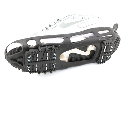 ODIER Shoe Ice Grippers Ourdoor Ice Cleats fit All Kind of Shoes Designed for Walk on Ice Snow and Freezing Mud Ground Must Have Outdoor Sports Activity Accessory (24-Teeth, L)