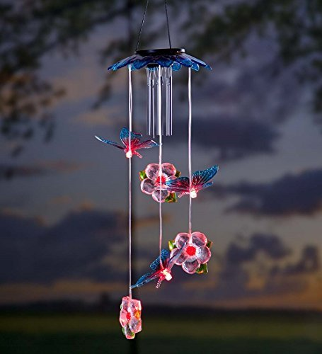 Solar Butterflies Mobile Wind Chime