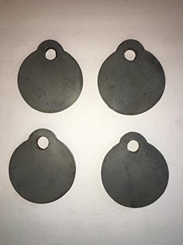 Bullseye Metals AR500 4-Inch Steel Gong Shooting Targets, 3/8-Inch Thick, 4-Count (Target Thick)