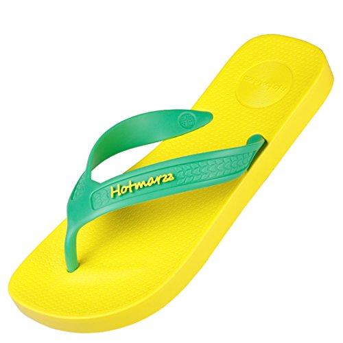 692be2e0a69554 good Hotmarzz Men s Premier Flip Flops Wide Strap Slippers Summer Beach  Thong Sandals
