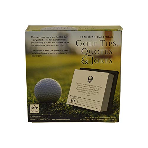 Golf Tips, Quotes & Jokes 2020 Desk Calendar