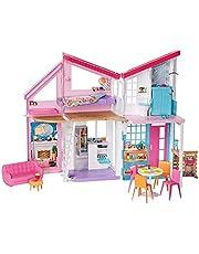 Barbie FXG57 - Barbie Malibu House-Dockhus med 2 våningar som Kan Göras Om, samt Mer än 25 delar, För Barn från 3 år
