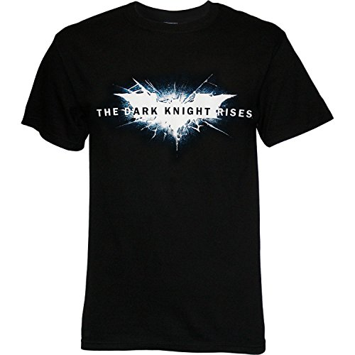 The Dark Knight Rises - Cracked Bat Logo T-Shirt Size XL