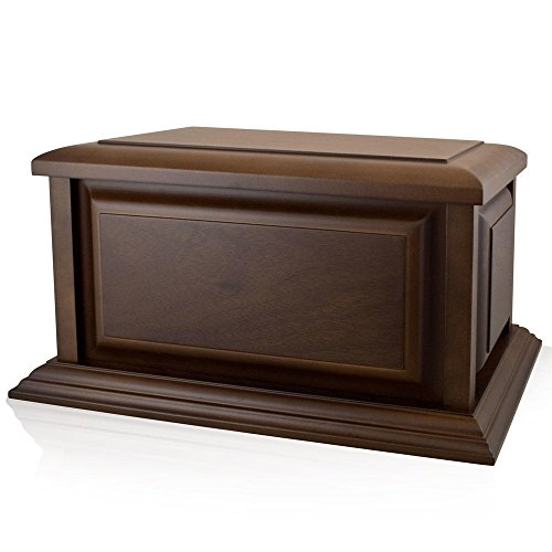 Perfect Memorials Large Traditional Walnut Wood Cremation Urn ()