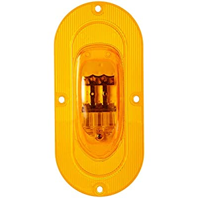 Grote 54203 SuperNova Oval LED Side Turn Marker Lights (Integrated Flange Mount, Male Pin): Automotive