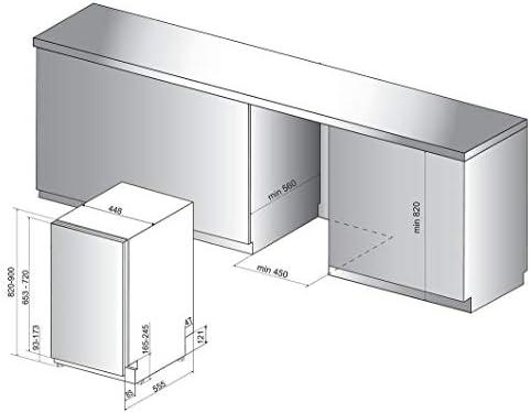 Hotpoint Ariston HSIE2B19 - Lavavajillas (45 cm, 10 cubiertos ...