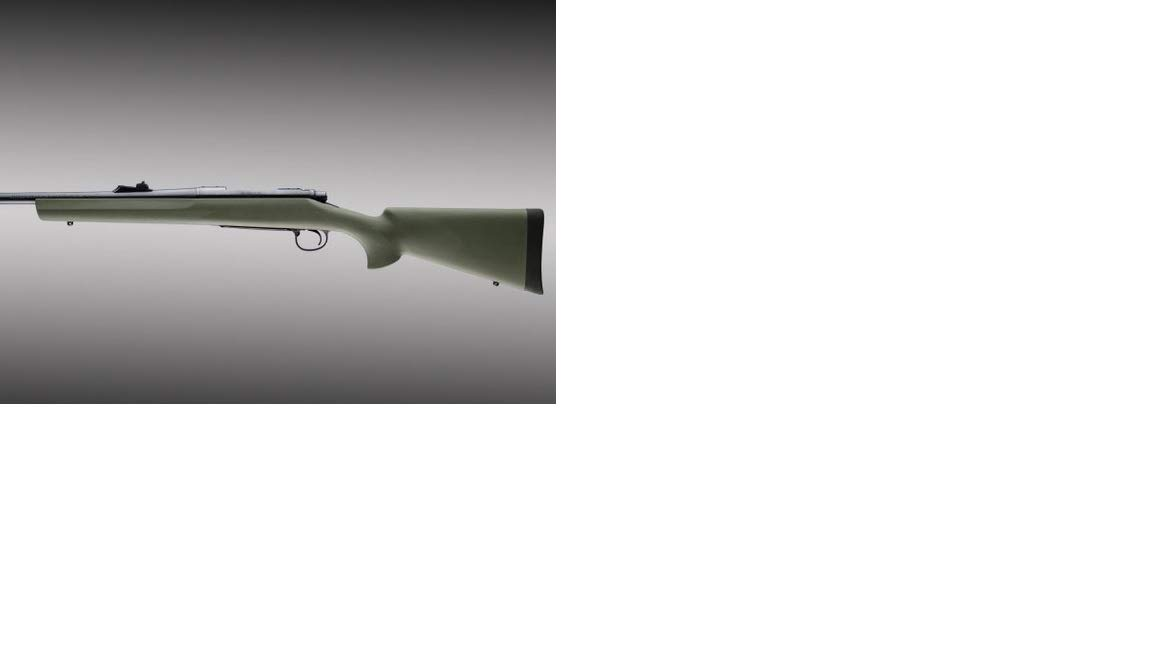 Hogue 70201 Remington 700 BDL Long Action OverMolded Stock, Standard Barrel, Pillarbed Olive Drab Green by Hogue
