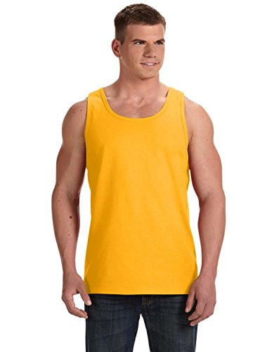 Hd Tank - Fruit of the Loom 5 oz, 100% Heavy Cotton HD Tank, Small, Gold
