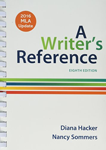 Writer's Reference,2016 Mla Updated