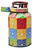 SKYTOUCH Lpg PVC Gas Cylinder Cover (25 * 21 Inches), Multicolour