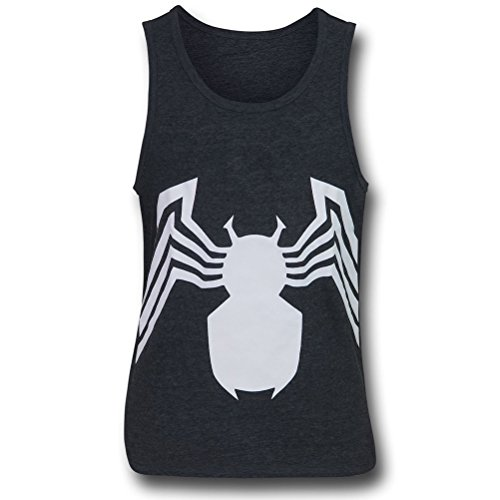 spider-man+tank+tops Products : Venom Symbol Heather Charcoal Tank Top
