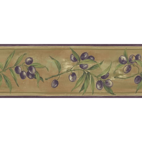 - Decorate By Color BC1581807 Earth Tone Olive Scroll Border