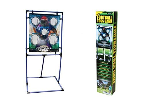 J&J's ToyScape Beanbag Football Toss Game - Perfect for Practicing Quarterback Skills | Outdoor Kids Parties, Poolside Activities & Everyday Play by J&J's ToyScape