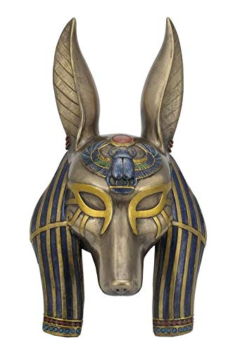 XoticBrands Anubis Mask Wall Plaque - Home Accent - Cold Cast Bronze Sculpture ()