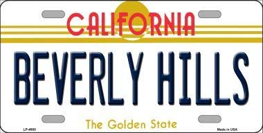 - Bargain World Beverly Hills California Novelty Metal License Plate (with Sticky Notes)